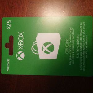 Xbox Gift Card $25 for $20