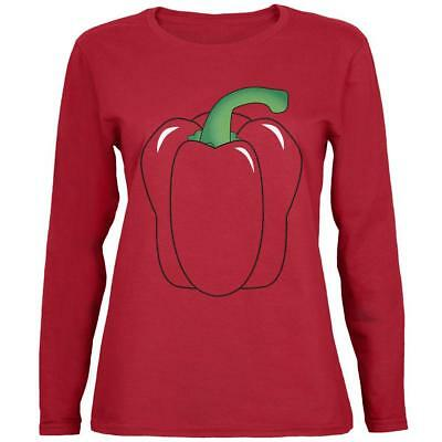 Halloween Bell Peppers (Halloween Fruit Vegetable Bell Pepper Costume Womens Long Sleeve T)