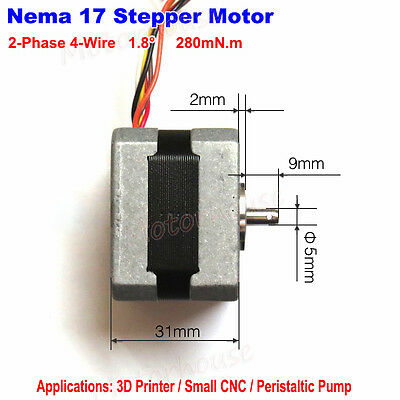 Stepper Motor Nema17 Shaft 5mm Pulley For Reprap Cnc Prusa Rostock 3d Printer