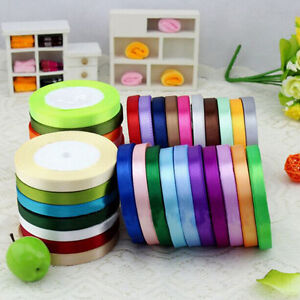 25-Yards-Solid-Satin-Ribbons-Wedding-Party-Decoration-Sewing-Scrapbook-DIY-Craft