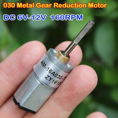 Micro 030 Gear Motor Dc 6v 9v 12v 160rpm Full Metal Gearbox Permanent Reducer
