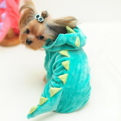 Halloween Dinosaur Pet Dog Costume Small Puppy Clothing Warm Jumpsuit - Dinosaur Dog Costume