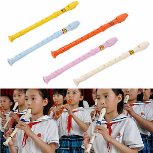 Popular Plastic Musical Instrument Recorder Soprano Long Flute  High Sales