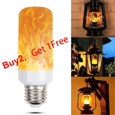 (E27 LED Flicker Flame Light Bulb Simulated Burning Fire Effect Xmas Party Lamp)