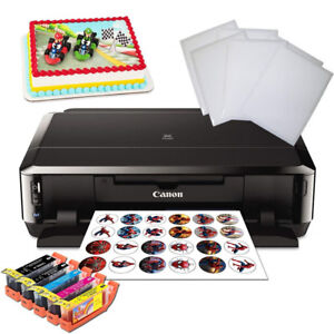Canon Edible Cake Printer Bundle + Edible Inks + Icing Sheets