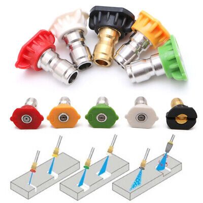 Pressure Washer Spray Nozzle Tips - 14 Quick Connection Design 2.5 Gpm 5 Pack