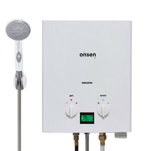 """Onsen 6L Portable Tankless Water Heater (2 """"D"""" / 12V ignition)"""