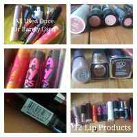 MAKEUP - 12 Lip Products - Used Once / Barely Used
