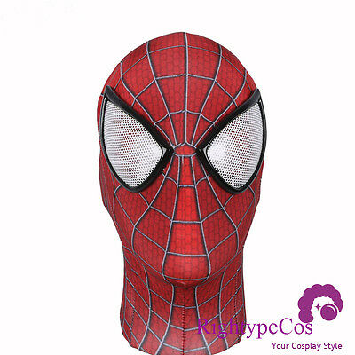 US SHIP Amazing Spider-man 2 mask 3D Digital printing Headwear No Faceshell Mask - Spiderman Masks