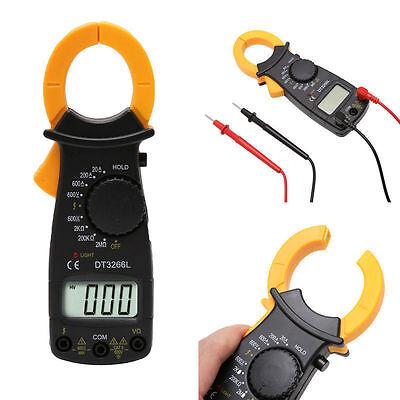 Dt3266l Clamp Voltmeter Ammeter Multimeter Ac Dc Resistance Current Tester Meter