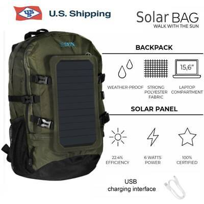 portable solar charger backpack 7w solar panel
