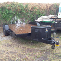 16' Flat Deck Car Hauler ATV Quads Dual Axle