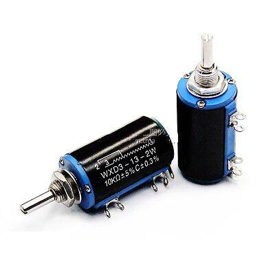 2 Pcs New Wxd3-13-2w 10k Ohm Rotary Multiturn Wirewound Potentiometer