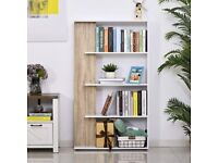Wayfair White and Grey Bookcase