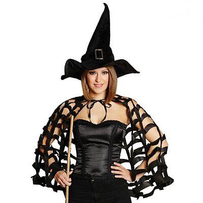 Mola 642070 Halloween Karneval Kostüm Zubehör Cape Umhang Spinne - Cape Kostüm Zubehör