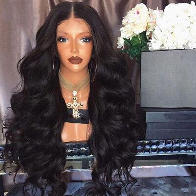 Schwarz Lockige Wellige Haar Perücken Brazilian Long Curly Remy Human Hair Wigs