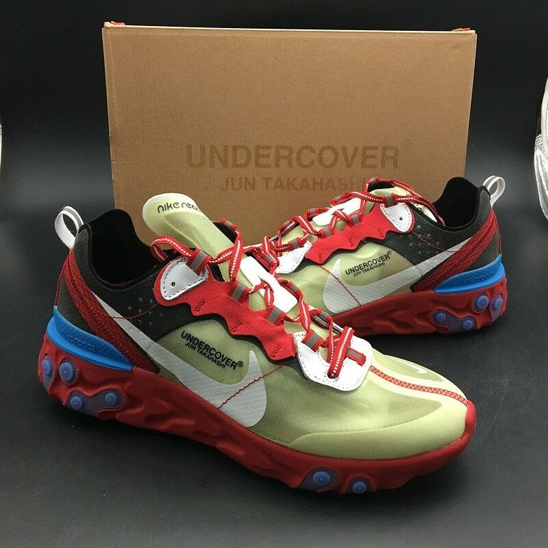 67dc1b53503b UNDERCOVER X NIKE REACT ELEMENT 87 - Red