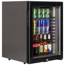 TEFCOLD TM42G BLACK GLASS DOOR MINI BAR FRIDGE