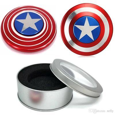 Captain America Shield Fidget Hand Spinner Toy Focus ADHD Autism