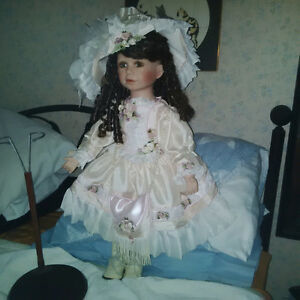 "Porcelain Doll 26 1/2 "" tall"