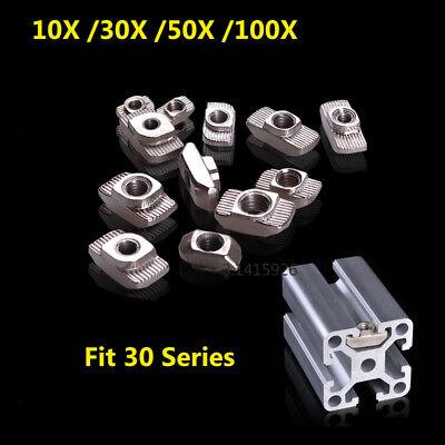 30x30 Eu Aluminum Profile T-slot Shape Interior Sliding Nut Block M3m4m5 50x