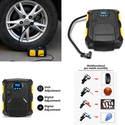 12V Portable LCD 150PSI Air Compressor Auto Car Bike Electric Tire Inflator Pump