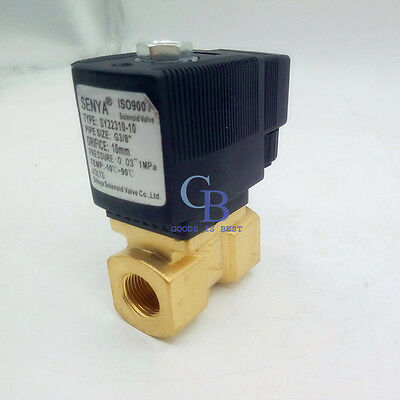 Ac 110v G12 Brass Electric Solenoid Valve For Water Waterproof Normally Closed