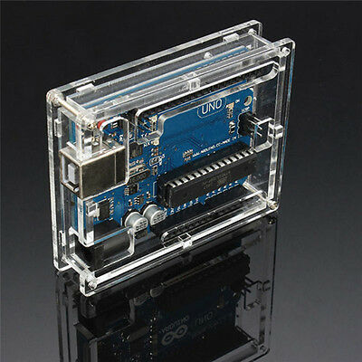 Transparent Acrylic Case Cover Shell Enclosure Computer Box For Arduino UNO FH