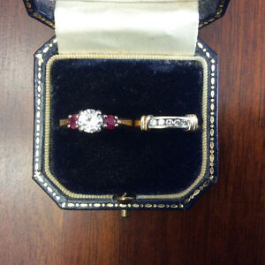 -14K GOLD WEDDING RINGS-DIAMOND