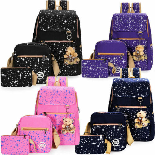 Women Bags Backpack Girl School Shoulder Bag Rucksack Canvas