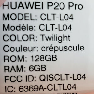 Huawei P20 PRO Twilight Colour! 128 GB, 6GB Ram, AMAZING camera!