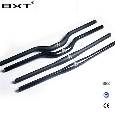 (Carbon 3K MTB Mountain Bike Handlebar Bicycle Flat Riser Bar 31.8*680mm-720mm)
