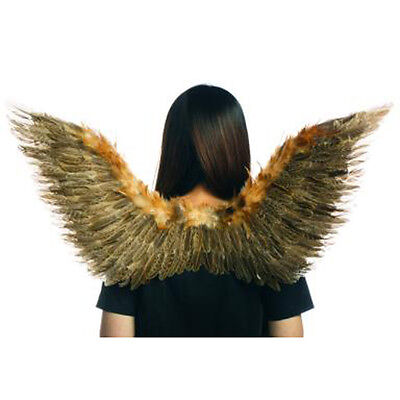 Feathered Brown Wings Feather Natural Fairy Dragon Adult Halloween Costume