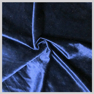 5 Yards Velvet Fabric 58 inches wide sold bty for upholstery & drapery Navy Blue