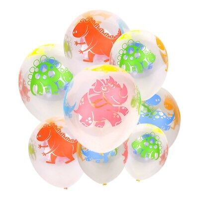 10PCS 12'' Dinosaur Cute Latex Balloons Print Assorted Birthday Party Kids Decor (Dinosaur Birthday Party Supplies)
