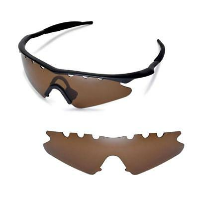 New WL Polarized Brown Vented Replacement Lenses for Oakley M Frame Sweep - Frame Sunglasses Vented Sweep