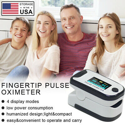 Finger Pulse Oximeter Heart Rate Spo2 Pr Pi Monitor Blood Oxygen Meter Sensor Us