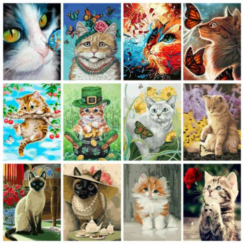 40 50cm cute cat diy paint by