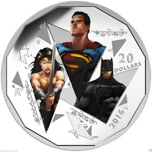 Silver Batman vs Superman Dawn of Justice Trinity Coin CLEARANCE