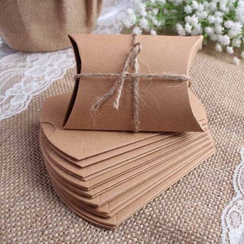 20pcs Craft Paper Bags Box Gift Cake Bread Candy Wedding Par