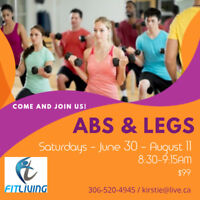 SATURDAY ABS AND LEG CLASS