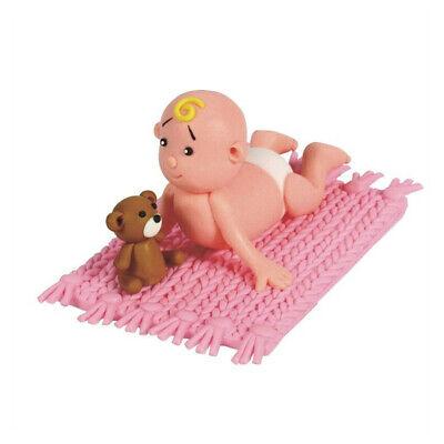 Culpitt BABIES PINK Claydough Cake Topper Decoration Figurine Baby Shower Party