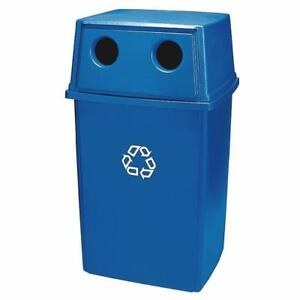 Rubbermaid Glutton Recycling Container 56 Gal with Lid – BLUE (MSRP $601)
