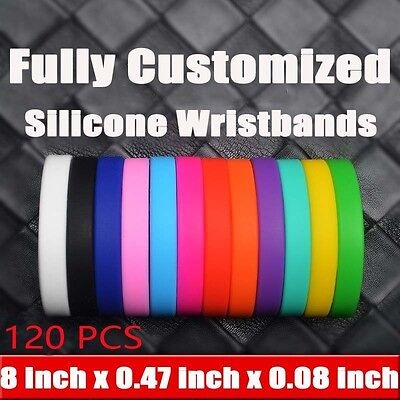 120pcs Sports Silicone Rubber Bracelet Adult Blank Wristbands Custom - Custom Rubber Wristbands