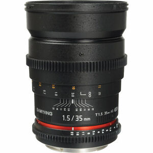Rokinon 35mm T1.5 Cine AS UMC Lens for Canon