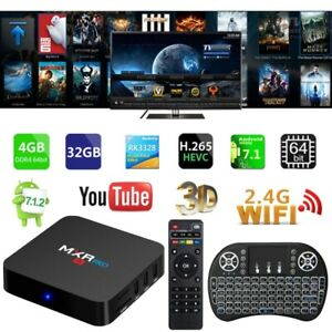 MXR PRO Smart TV BOX Android IPTV PENTACORE 4GB 32GB