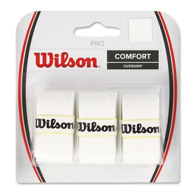 Wilson Tennis Badminton Pro Overgrip Comfort White 3 Piece WRZ4014WH