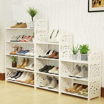 3 Shelf Storage Organizer - 3/4 Tiers Home Shoe Rack Shelf Storage Organizer Cabinet Closet Space Saving US