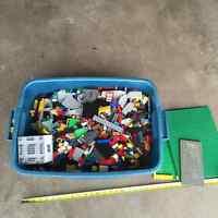Tub of Lego & Base Plates