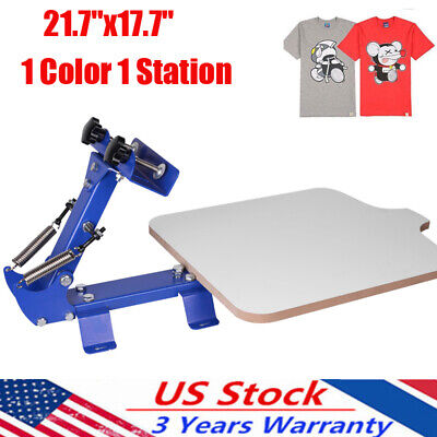 1 Color 1 Station Silk Screen Printing Machine T-shirt Printer Diy With 2springs